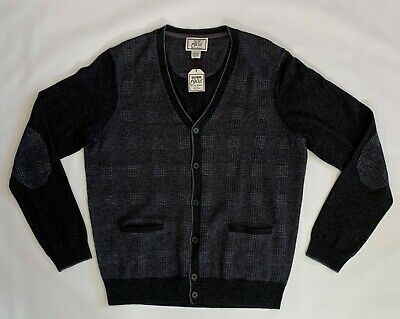 Jos A Bank 1905 The New Tradition Knit Gray Button-Front Sweater Men's Sz L