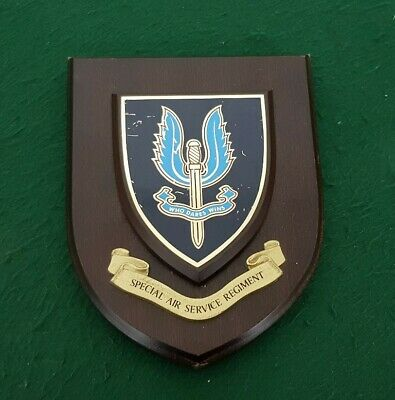 18 cm Wooden SAS Special Air Service Army Regimental Shield Wall Plaque