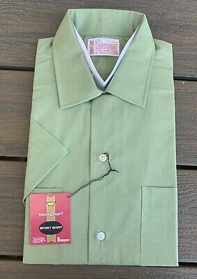 Vtg 60s PENNEYS Towncraft PENN PREST Collar LOOP Shirt sz M 15-15.5 NOS #3