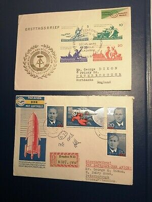 2 First Day Covers from East Germany 1960s (B Box Lot 268)
