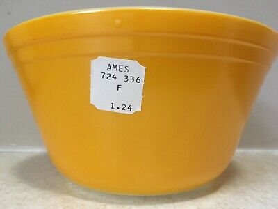 """Primary Yellow FEDERAL Milk Glass MIXING SERVING Bowl 7"""" Nesting PERFECT NWT NEW"""