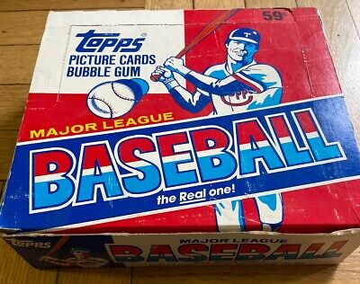 1986 Topps Baseball Cards Cello Box with 24 Sealed Packs