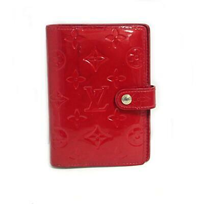 LOUIS VUITTON Agenda PM Notebook Cover R21016 Vernis Pomme Damour Used