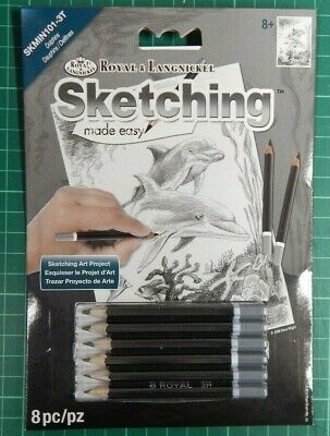 royal and langnickel set, mini Sketching Made Easy Dolphins