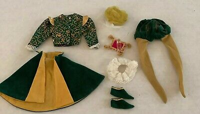1960's Vintage Mattel Ken The Prince #0772 Outfit Exc Complete #BM53 Slipper