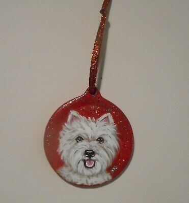 West Highland White Terrier Dog Christmas Ornament Decoration Hand Painted