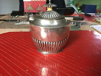 Antique Sterling Silver Tea Caddy Chester 1890