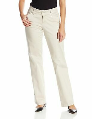Lee Womens Pants Beige Size 14S Curvy Fit Maxwell Trouser Stretch $48- 956