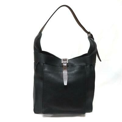 HERMES Marwari PM shoulder Hand bag Taurillon Clemence leather Nior Black SHW