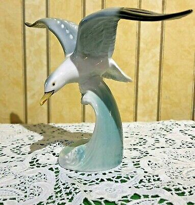 Goebel Hummel Bird Silver Gull On A Wave In The Sea Cv 76 Gloss China Perfect