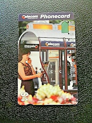 $4 Woman Talking On The Pay Phone Telecom Phonecard.