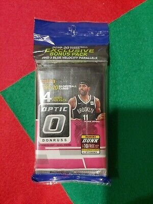 2019-2020 NBA Panini Donruss Optic. 1 Hanger Pack 15 Cards Per Pack
