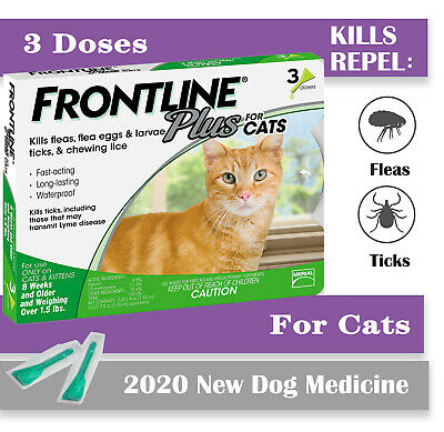 Frontline Plus 3 Month Supply For Cats Over 8-Weeks Fast Free Shipping