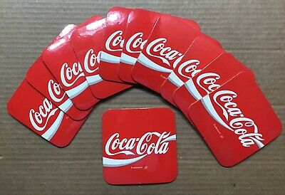 Vintage Coca Cola Plastic / Cork Coasters ~ 12 Out of Package