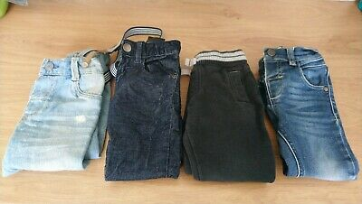 4 X Boys 12-18 Months 1-1.5 Trousers Bundle Jeans Jogging Bottoms Next H&M BNWT