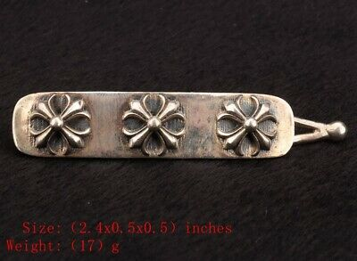 Precious Chinese 925 Silver Solid Silver Real Silver Hairpin Lady Decorate Cross