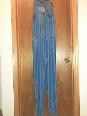 1250 Degree Celcious Womens Blue Jean Romper Jumpsuit Small