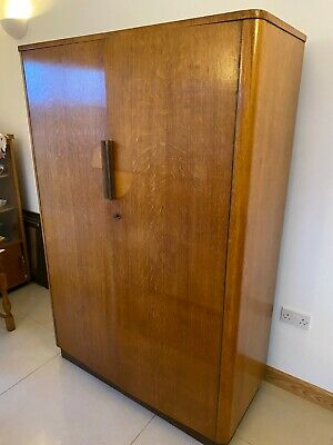 Large Wardrobe - art deco united up works oak wardrobe Cira 1940   - Oak veneer