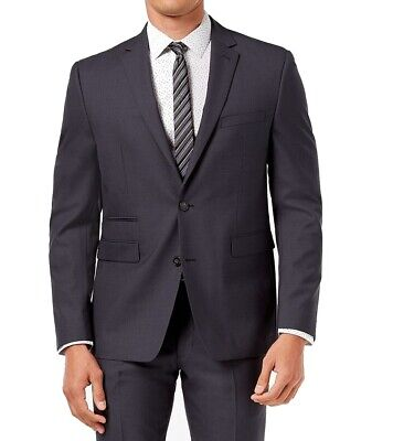 Vince Camuto Mens Blazer Charcoal Gray 40S Slim-Fit Two-Button Wool $650- 089