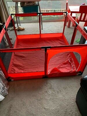 Baby Playpen Kid Pool Ball Pit Children Game Fence Play Pen House Ballpit Red UK