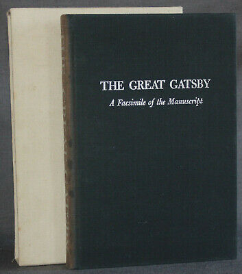 Fitzgerald GREAT GATSBY: A FACSIMILE OF THE MANUSCRIPT 1973 Microcard Editions