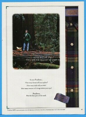 1994 Pendleton Wool Shirt How Many Forests Man In Turtleneck Photo Print Ad