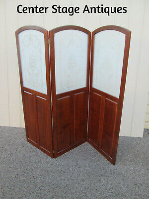 58626  ETCHED  Glass Dressing Screen Room Divider