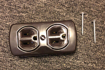 4 Duplex Receptacle Surface Mount 2 Round Or Flat Plugs Accepted