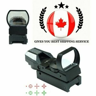 4 Reticle Red Dot Open Reflex Sight with Weaver-Picatinny Rail Mount