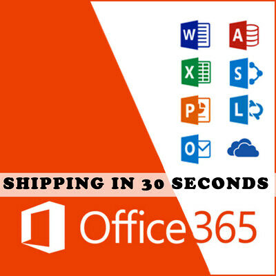 Office 365-2016 Pro Plus Microsoft Lifetime license 5 devices- Shipping 30 Sec.
