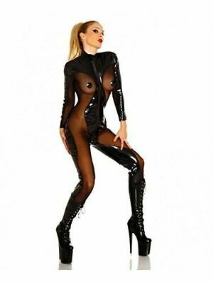 Latex Rubber Catsuit Sexy Black and Coffee Overall Cosplay Bodysuit 0.4mm S-XXL