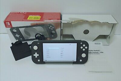 Nintendo Switch Lite Grey Console Boxed