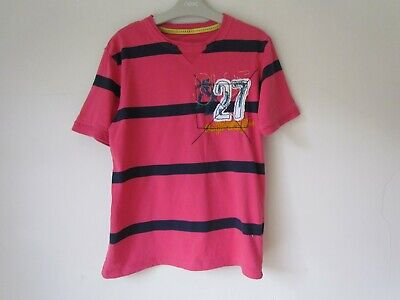 MARKS & SPENCER M&S Boys Pink Stripe T-shirt age 11- 12