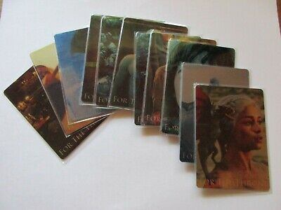 2020 Game of Thrones Season 8 Complete For The Throne Metal Set - Series Eight