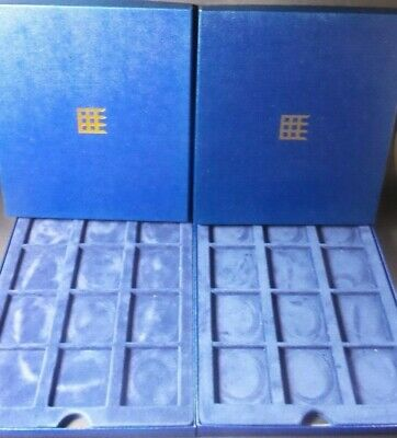 2X New Presentation Box Display Case MEDALS / COIN COLLECTION  L1