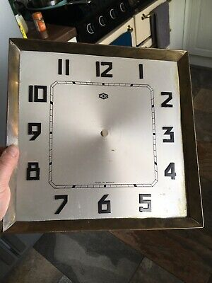 "Antique Grandfather Longcase Deco ODO  clock dial face 12"" spares parts French"