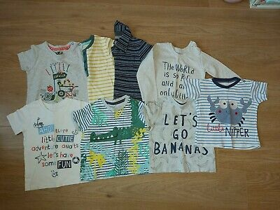 8 x Baby boys T-shirt Bundle Size 12-18 months Tu George F&F Pep & co