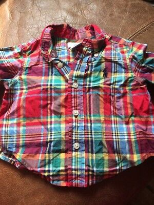 Ralph Lauren Red Plaid Check Shirt Age 3 Months