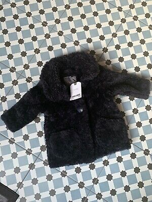 BNWT NEXT Baby Girl NAVY BLUE Fluffy SNUGGLE COAT Size 3-6 Months NEW £20