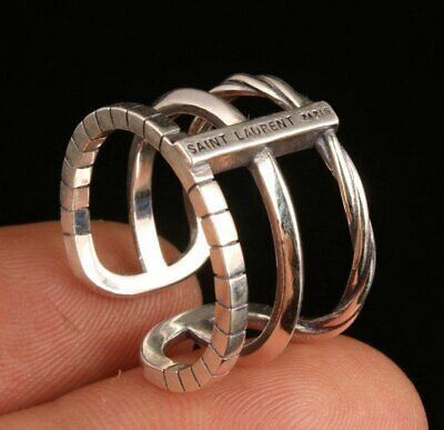 Chinese Pure Silver Hand-Carved Statue Ring Gift Collection