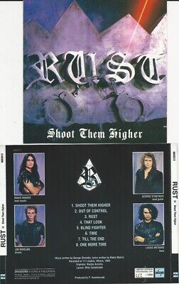 RUST- Shoot Them Higher CD lim.+numb. 80ies METAL CLASSIC ala HEAVY LOAD PICTURE