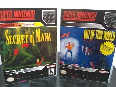 SNES LOT - Secret of Mana and Out of this World + Custom Cases!