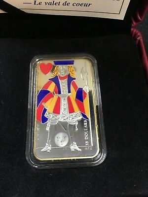 2008 RCM, Playing Cards, The Jack of Hearts, Silver Proof $15 Dollar