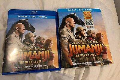 Jumanji The Next Level (Blu-Ray & DVD Never Used Only Opened For Digital Code