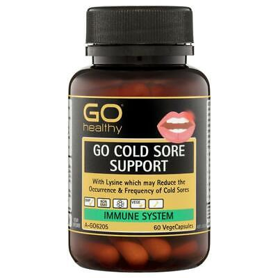 2 X Go Healthy Go Cold Sore Support Vegecapsules 60 Pack = 120 Tablets