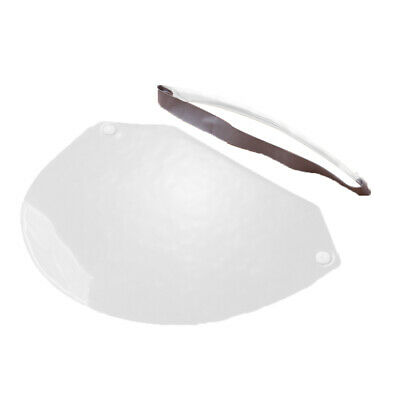 Safety Full Face Shield Protection Cover Splash Saliva Dustproof Cover 2 Pcs CA