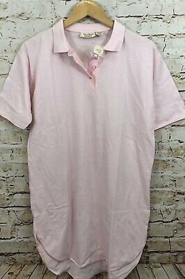 Victorias Secret polo nightshirt sleep shirt new vtg womens small pink E4