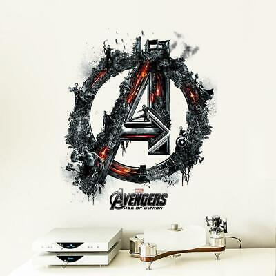 Avengers Vinyl Pvc Super Hero Wall Stickers Home Decor Boy's room decoration