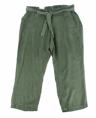 Style & Co. Womens Pants Green Size 18W Plus Cropped Straight Leg $59 198