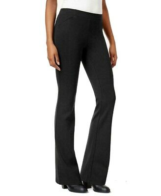 Style & Co. Womens Pants Black Size 18W Plus Bootleg Solid Stretch $56- 031